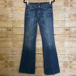 7 For All Mankind Medium Wash Low Rise Flare Jeans
